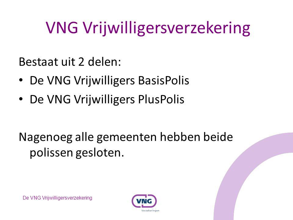 De VNG Vrijwilligersverzekering VNG Vrijwilligersverzekering Bestaat uit 2 delen: De VNG Vrijwilligers BasisPolis De VNG Vrijwilligers PlusPolis Nagen
