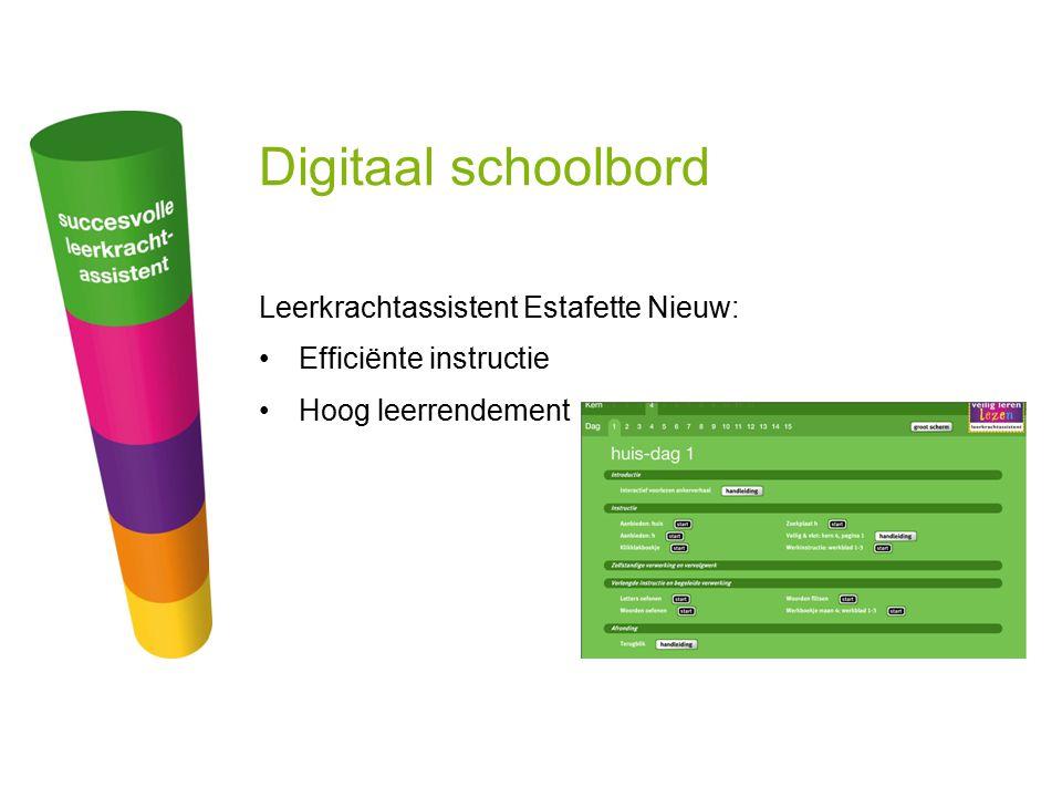 Digitaal schoolbord Leerkrachtassistent Estafette Nieuw: Efficiënte instructie Hoog leerrendement