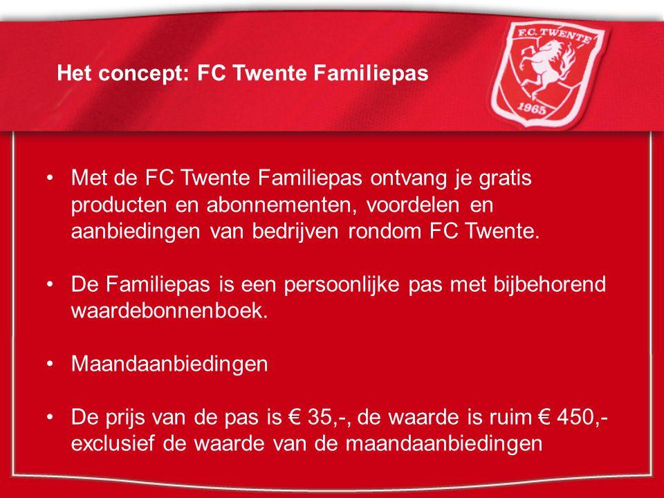 Bedrijven verbonden aan de FC Twente Familiepas Een greep uit de aanbieders en de voordelen: o EMTÉ Supermarkten: gratis boodschappentas t.w.v.
