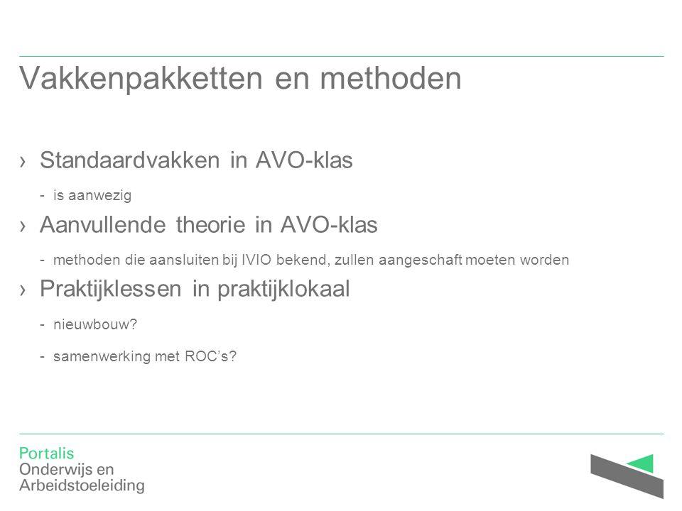 Vakkenpakketten en methoden ›Standaardvakken in AVO-klas - is aanwezig ›Aanvullende theorie in AVO-klas - methoden die aansluiten bij IVIO bekend, zul