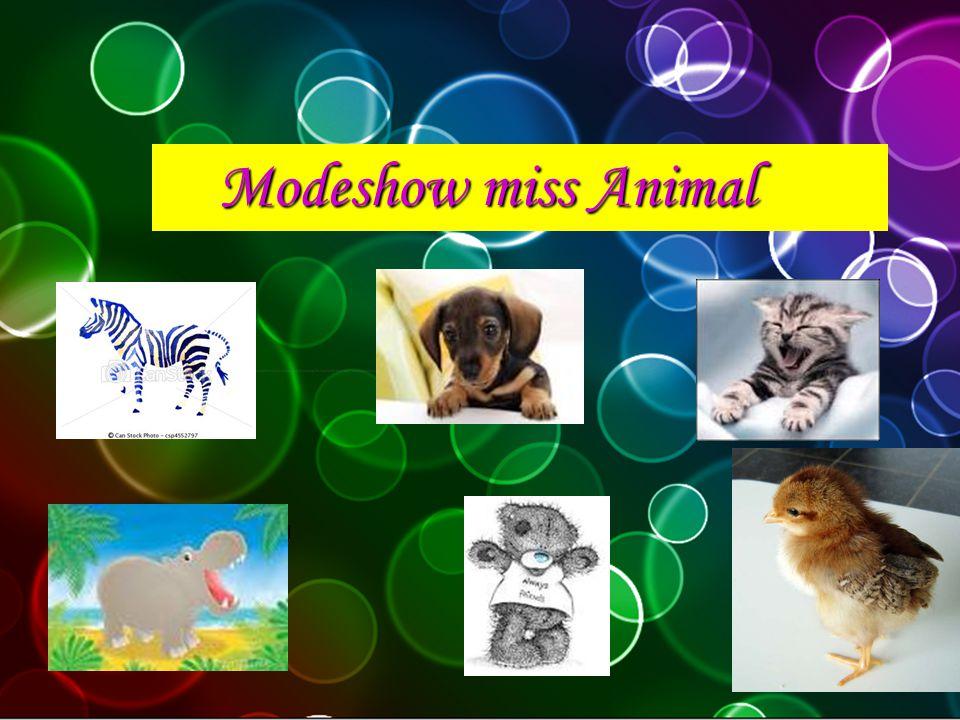 Modeshow miss Animal