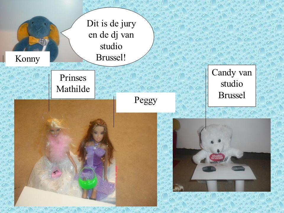 Dit is de jury en de dj van studio Brussel! Peggy Prinses Mathilde Konny Candy van studio Brussel