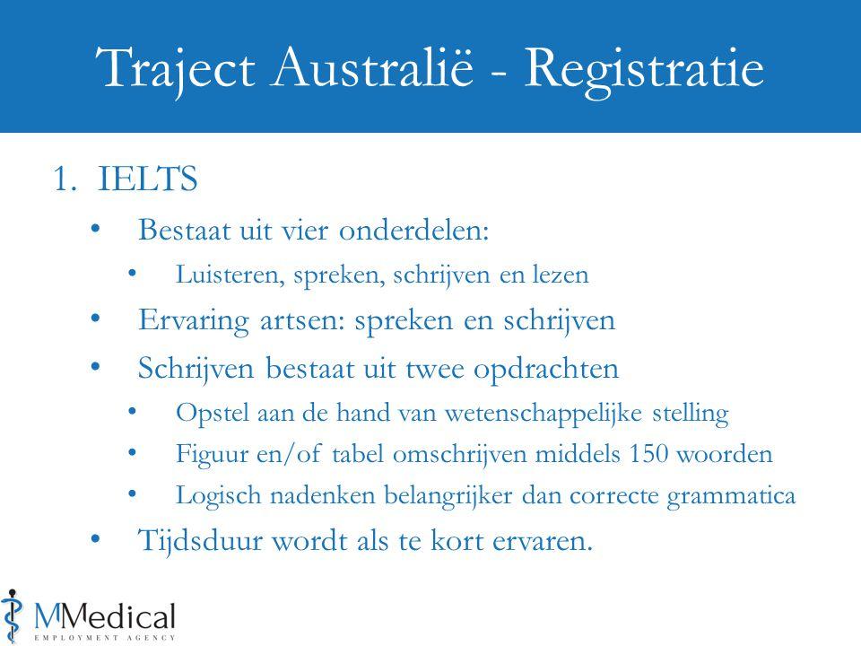 1. IELTS Bestaat uit vier onderdelen: Luisteren, spreken, schrijven en lezen Ervaring artsen: spreken en schrijven Schrijven bestaat uit twee opdracht