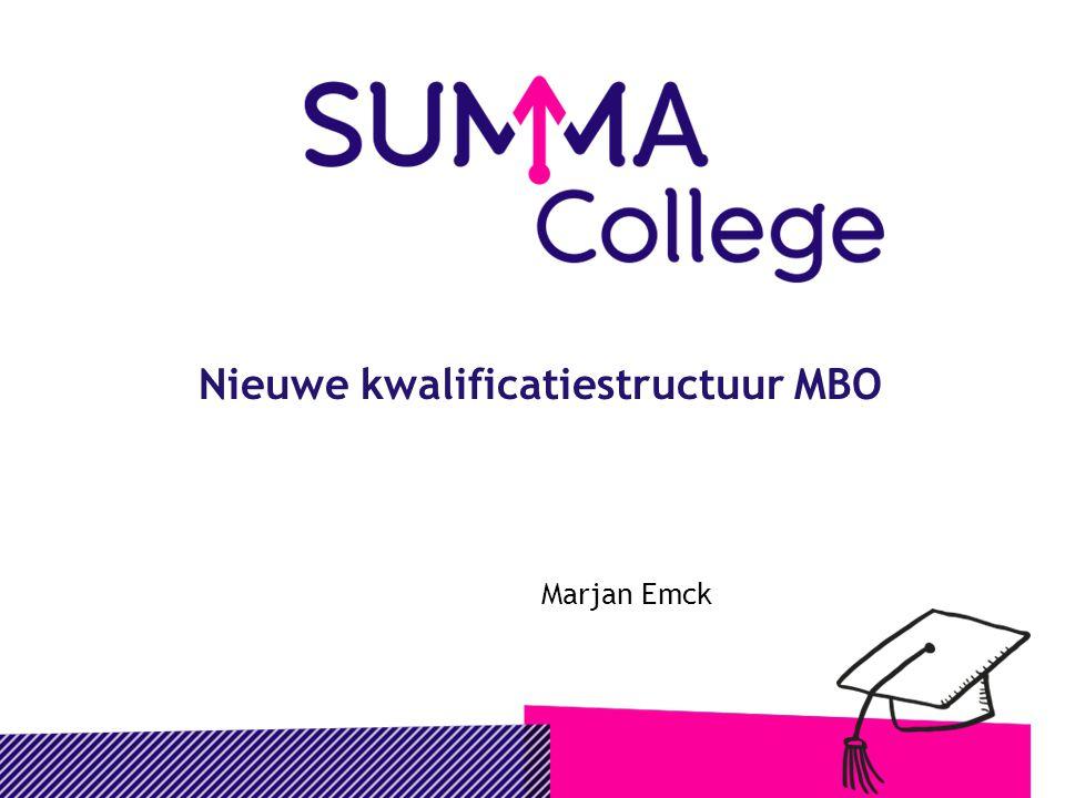 Nieuwe kwalificatiestructuur MBO Marjan Emck
