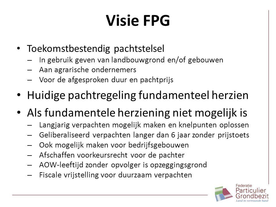 Visie FPG Toekomstbestendig pachtstelsel – In gebruik geven van landbouwgrond en/of gebouwen – Aan agrarische ondernemers – Voor de afgesproken duur e