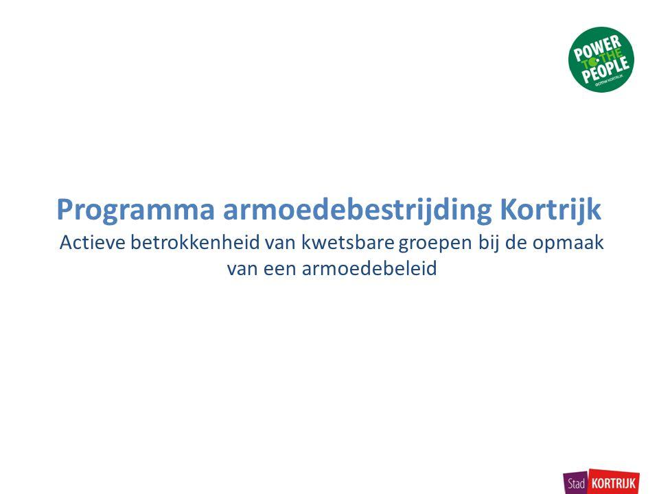 Armoede in Kortrijk In Kortrijk leven in 2011 11.227 inwoners in of op de rand van armoede.