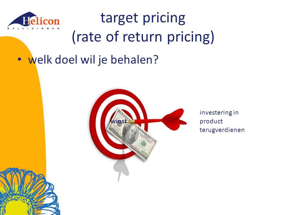 prijsdifferentiatie het vragen van verschillende prijzen voor verschillende producten gebaseerd op verschillen in kosten en producteigenschappen Maak vraag 1 t/m 3 op blz.