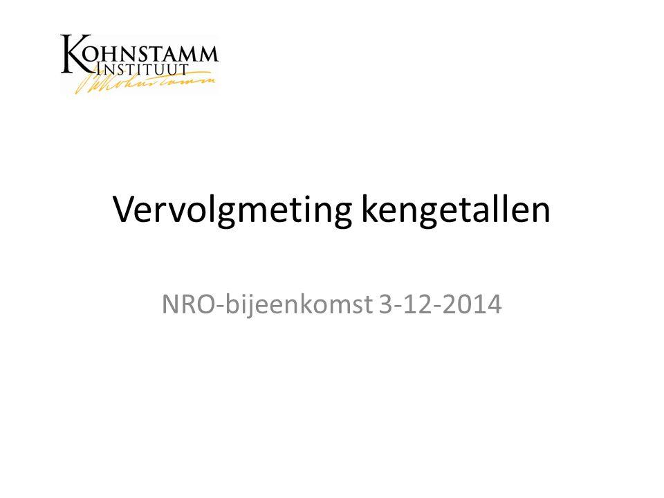 Vervolgmeting kengetallen NRO-bijeenkomst 3-12-2014