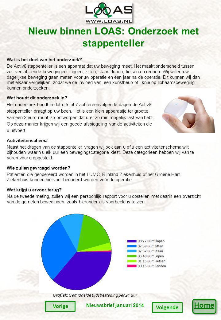 Home Nieuw binnen LOAS: Onderzoek met stappenteller Wat is het doel van het onderzoek.