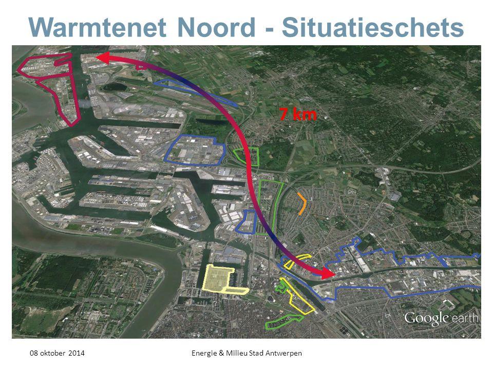 Warmtenet Noord - Situatieschets 08 oktober 2014Energie & Milieu Stad Antwerpen 7 km