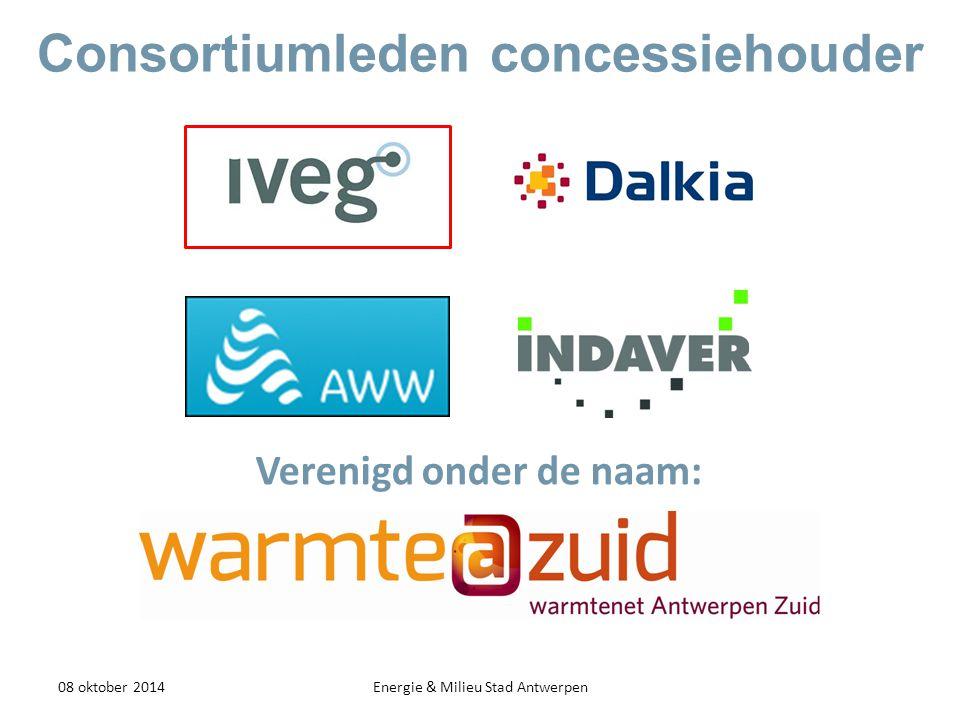 Overeenkomst - Contractstructuur 08 oktober 2014Energie & Milieu Stad Antwerpen concessiehouder Afsprakenverklaring dd 17/08/2013 + RUP Concessieovereenkomst Afsprakennota (in opmaak) warmteklant Aansluit- & leveringscontract
