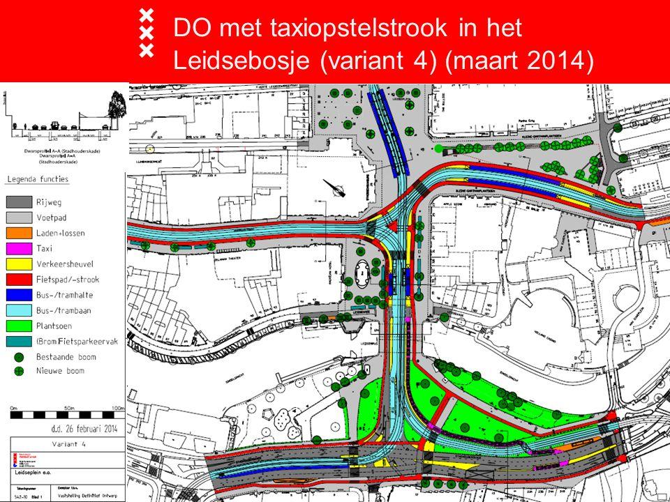 DO met taxiopstelstrook in het Leidsebosje (variant 4) (maart 2014)