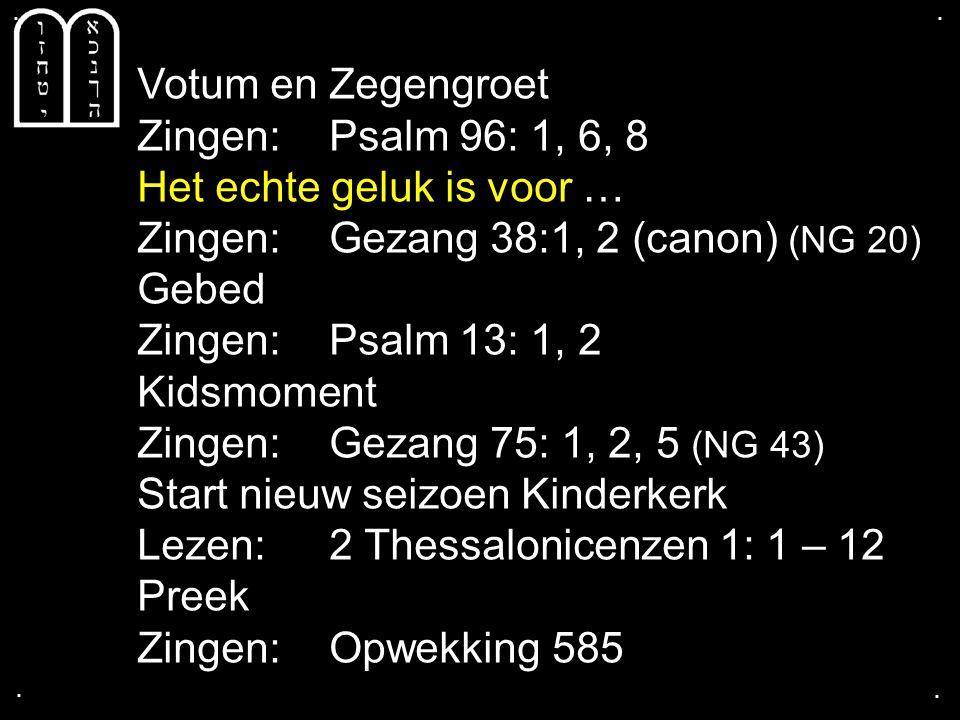 ....Tekst: 2 Thessalonicenzen 1: 1 – 12 Broeders en zusters, wij moeten God altijd voor u danken.