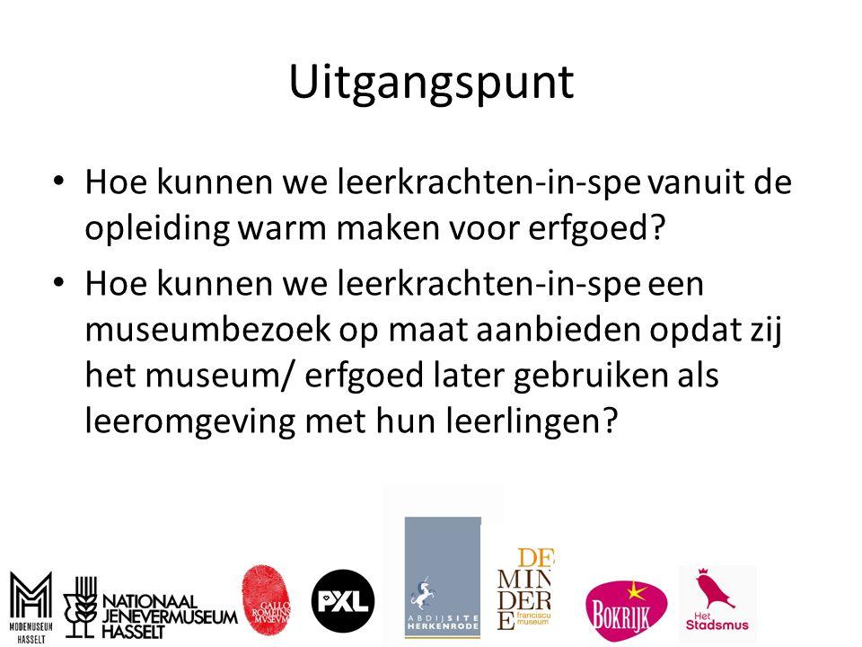 Ontstaan In 2013 werd het netwerk erfgoededucatie Limburg opgericht, ondertussen omgedoopt tot het netwerk 'Erfgenoten' Binnen dat netwerk zijn verschillende werkgroepen ontstaan, waaronder deze werkgroep die focust op de relatie erfgoedsector en lerarenopleiding.
