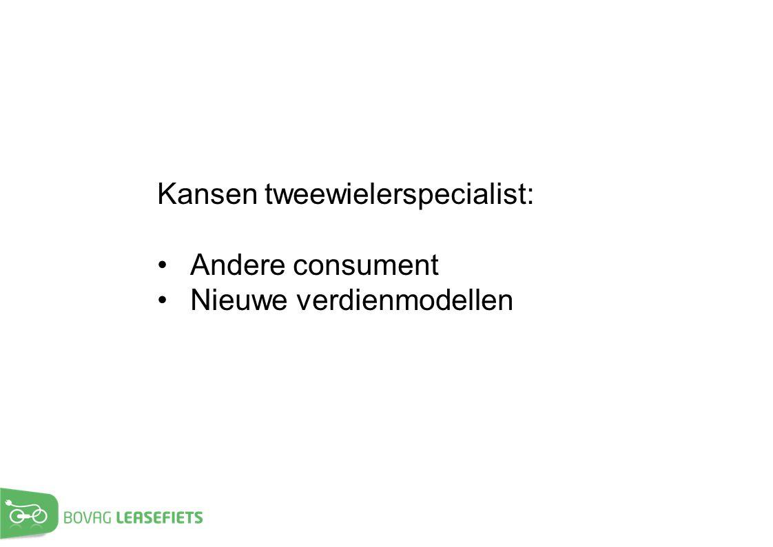 Kansen tweewielerspecialist: Andere consument Nieuwe verdienmodellen