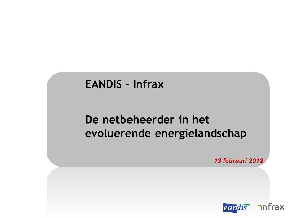 EANDIS – Infrax De netbeheerder in het evoluerende energielandschap 13 februari 2012