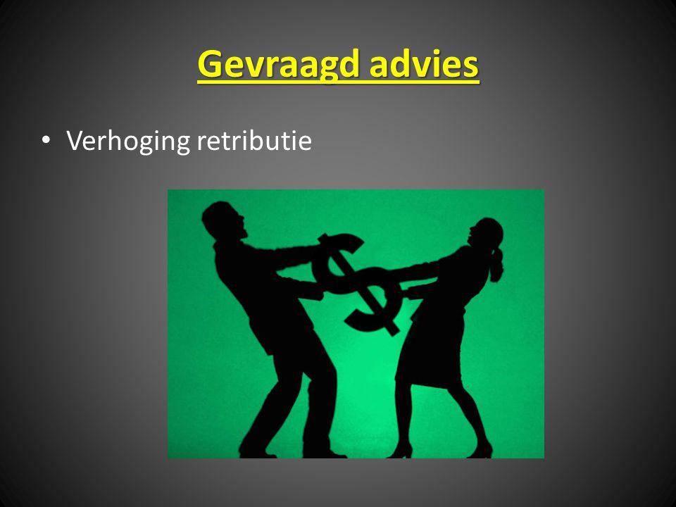 Gevraagd advies Verhoging retributie