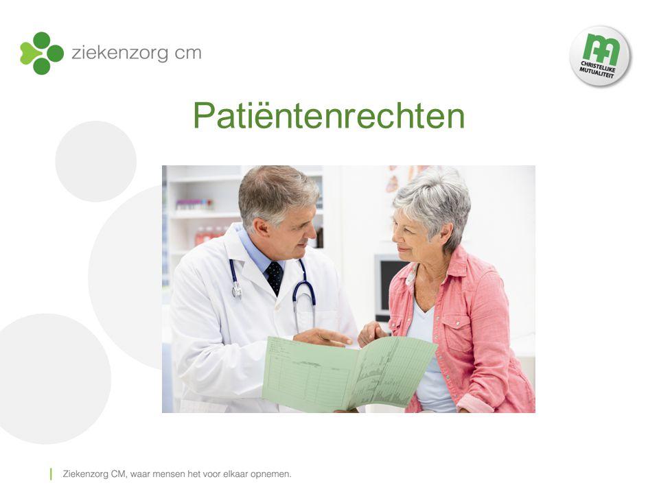 Inleiding patiëntenrechten = niet nieuw 2002: elementaire rechten samengebracht in één wet  duidelijke en toegankelijke informatie  betere behandeling van de klachten van de patiënt  gemakkelijke toegankelijkheid en betere naleving