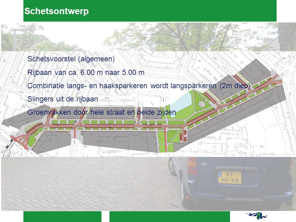 Schetsvoorstel (algemeen) Rijbaan van ca.