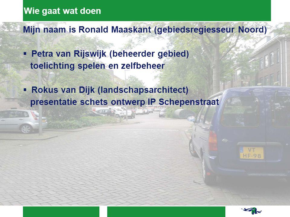 Schetsontwerp Schetsvoorstel (parkeren) Door 2 keer langsparkeren (zonder onderbrekingen) parkeren effectiever Kleine groei parkeerplaatsen is mogelijk