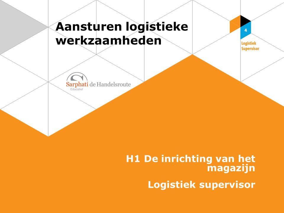 Aansturen logistieke werkzaamheden H1 De inrichting van het magazijn Logistiek supervisor