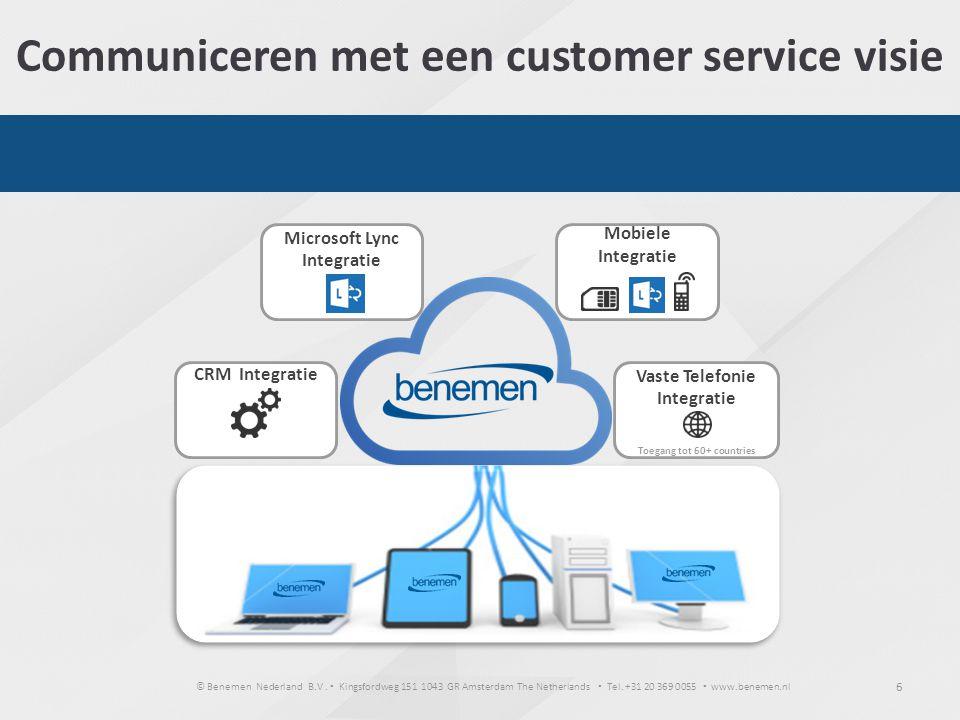 © Benemen Nederland B.V. ▪ Kingsfordweg 151 1043 GR Amsterdam The Netherlands ▪ Tel. +31 20 369 0055 ▪ www.benemen.nl 6 Communiceren met een customer