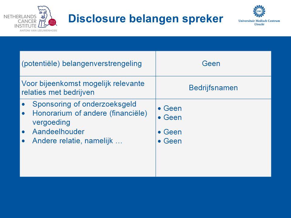 (potentiële) belangenverstrengelingGeen Voor bijeenkomst mogelijk relevante relaties met bedrijven Bedrijfsnamen  Sponsoring of onderzoeksgeld  Hono
