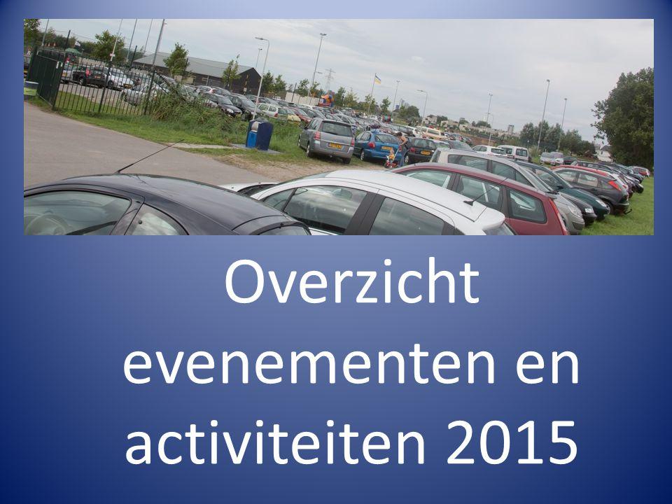 Overzicht evenementen en activiteiten 2015