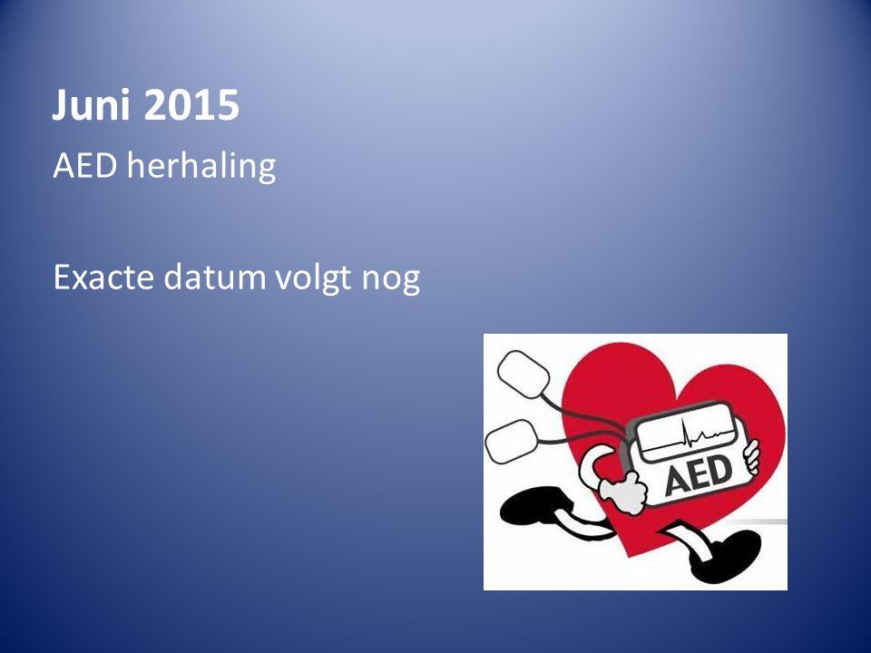 Juni 2015 AED herhaling Exacte datum volgt nog