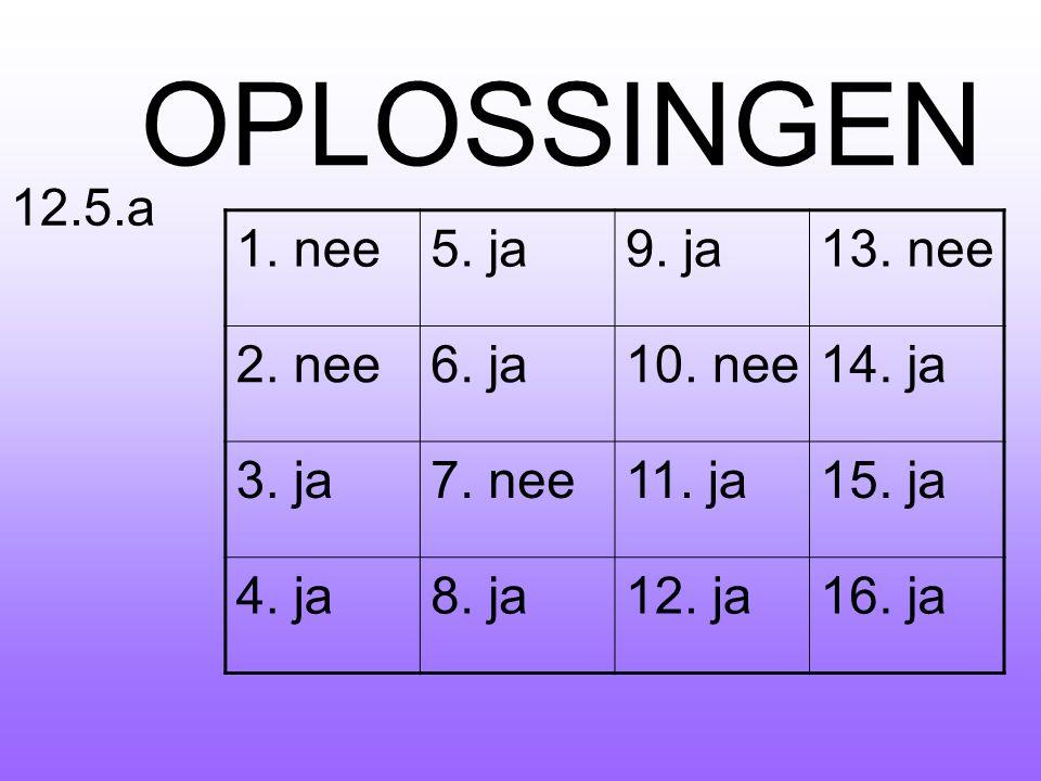 OPLOSSINGEN !!!!