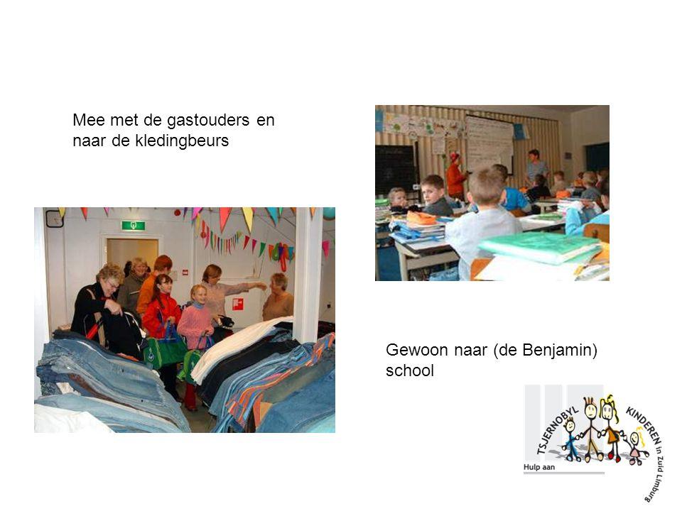Mee met de gastouders en naar de kledingbeurs Gewoon naar (de Benjamin) school