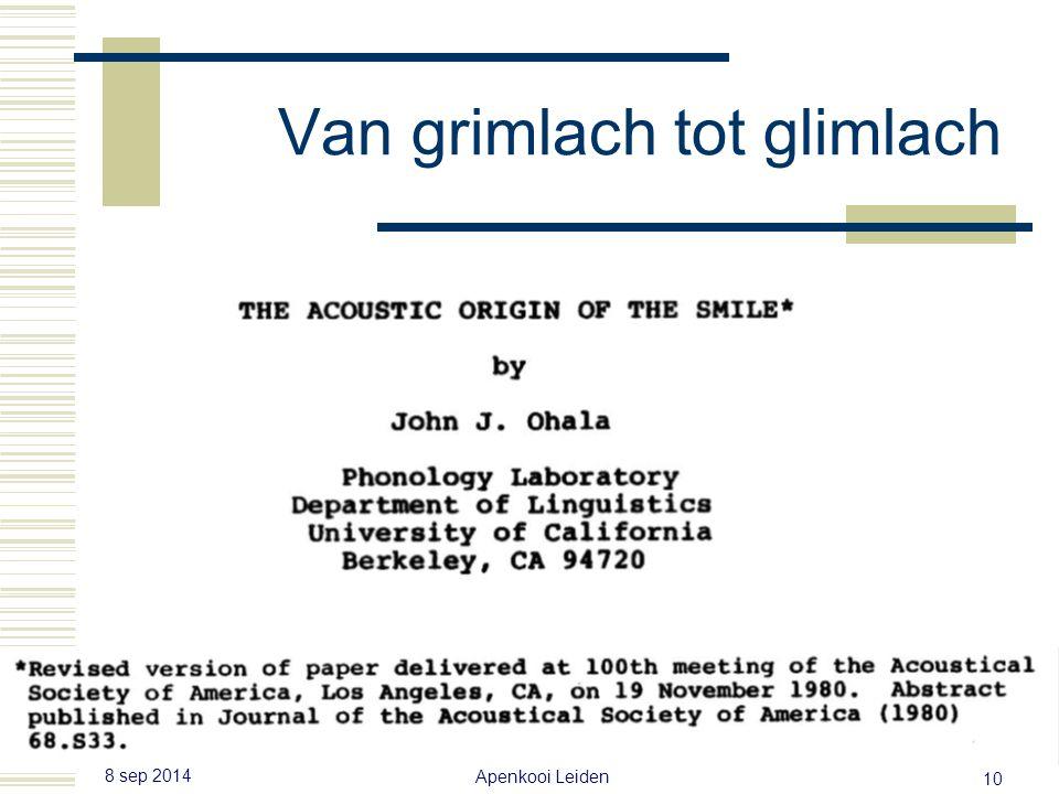 8 sep 2014 Apenkooi Leiden 9 John J. Ohala
