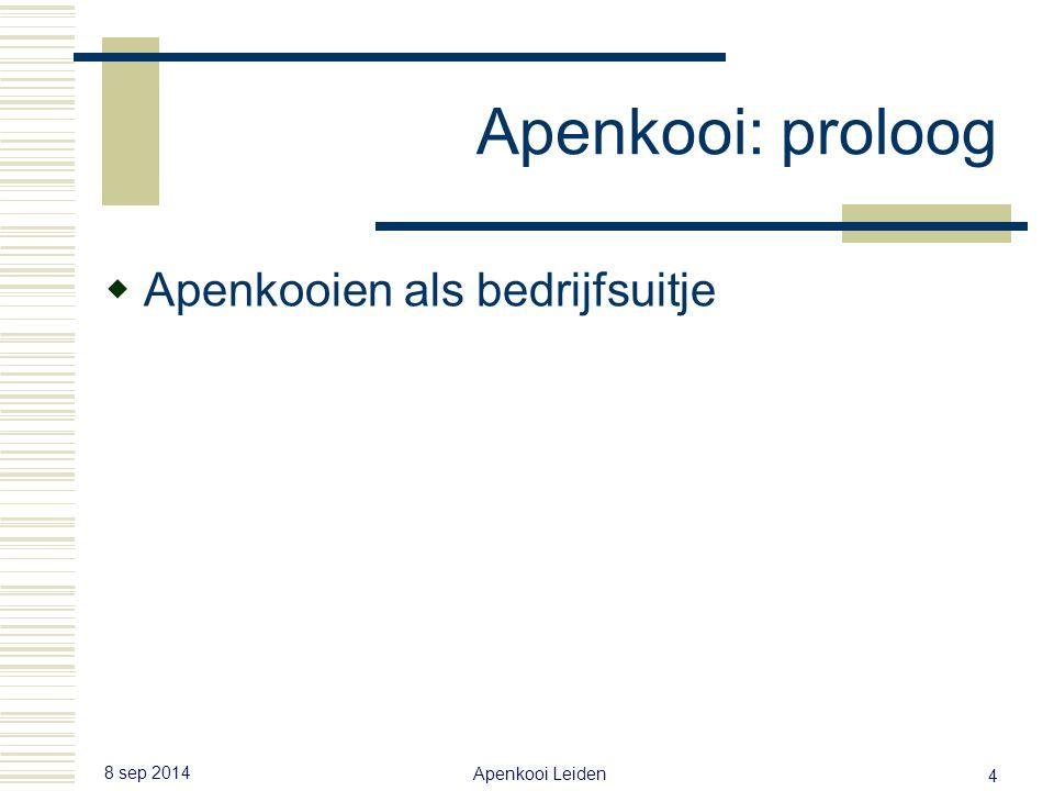 Laatste les: Apenkooi proloog