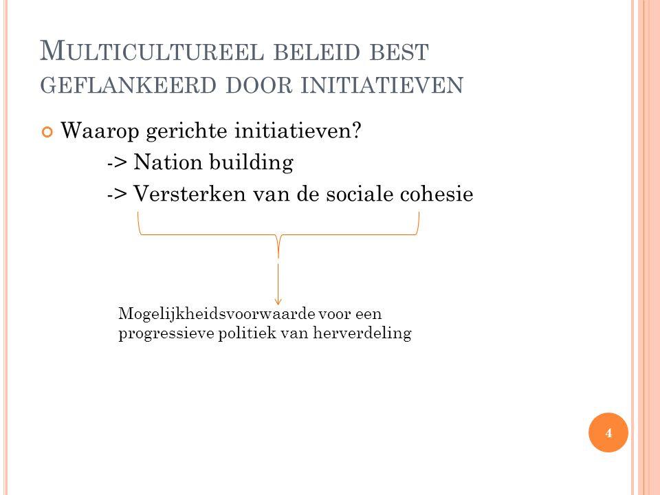 M ULTICULTUREEL BELEID BEST GEFLANKEERD DOOR INITIATIEVEN Waarop gerichte initiatieven.