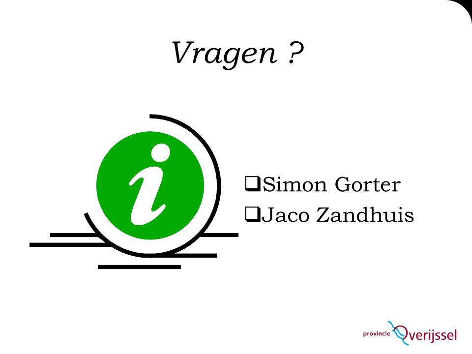 Vragen  Simon Gorter  Jaco Zandhuis
