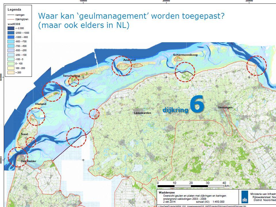 Waar kan 'geulmanagement' worden toegepast? (maar ook elders in NL) dijkring 6