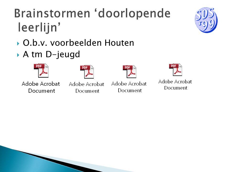  O.b.v. voorbeelden Houten  A tm D-jeugd