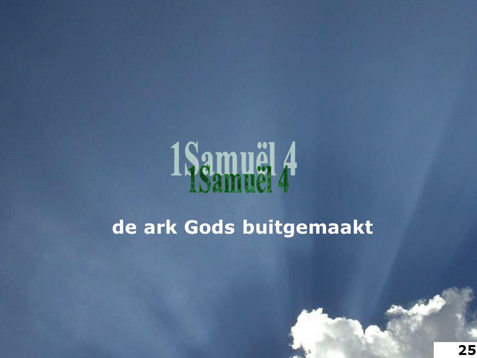 de ark Gods buitgemaakt 25