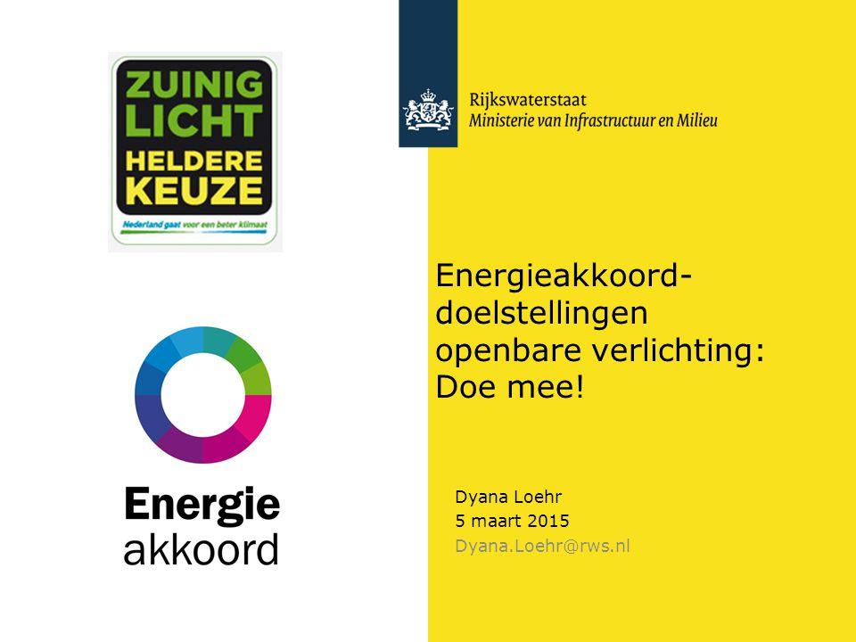 Energiebesparing openbare verlichting 2Doelstellingen Energieakkoord Doelstellingen openbare verlichting 1.20% energiebesparing OVL en VRI's in 2020 t.o.v.