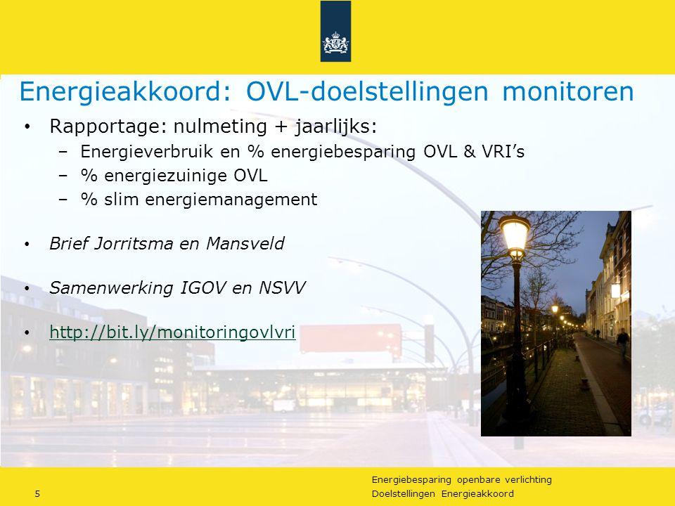Energiebesparing openbare verlichting 16Doelstellingen Energieakkoord Opvallend: Veel werk, maar hoge deelname: ± 50% Energiebesparing t.o.v.