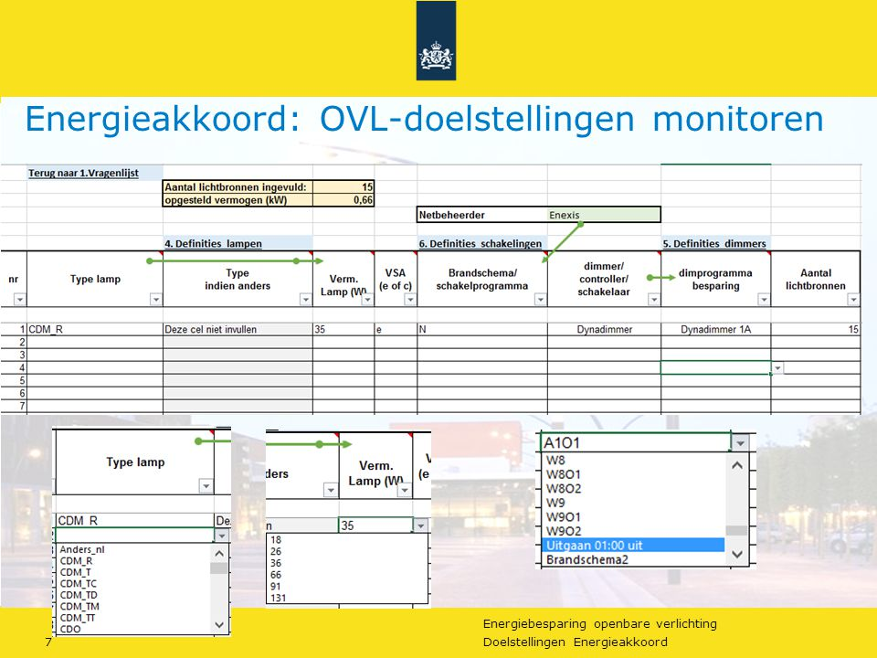 Energiebesparing openbare verlichting 18Doelstellingen Energieakkoord Energieakkoord Openbare Verlichting + VRI's Vragen.
