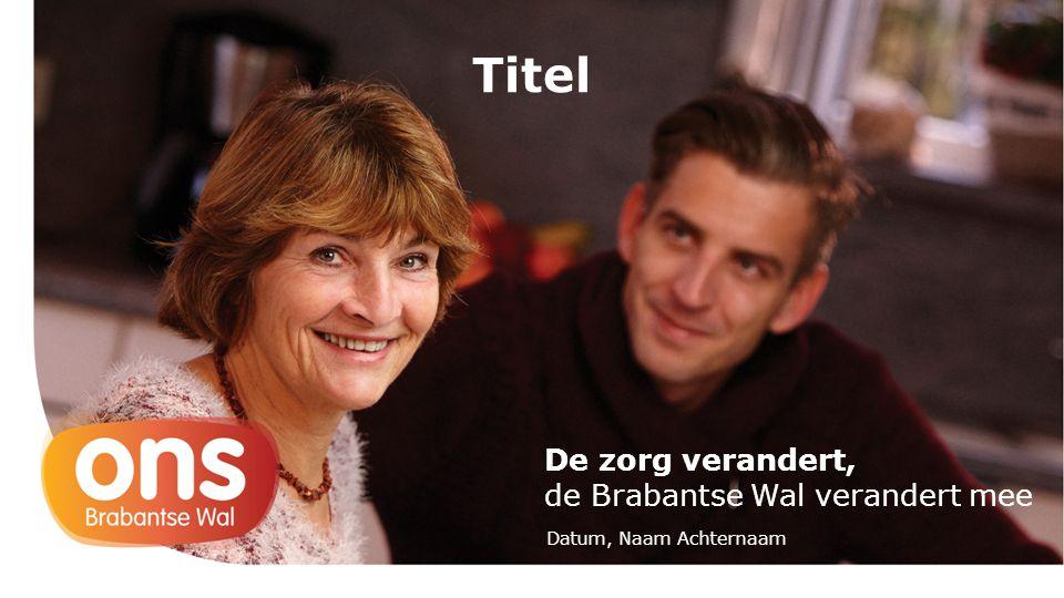 De zorg verandert, de Brabantse Wal verandert mee Titel Datum, Naam Achternaam