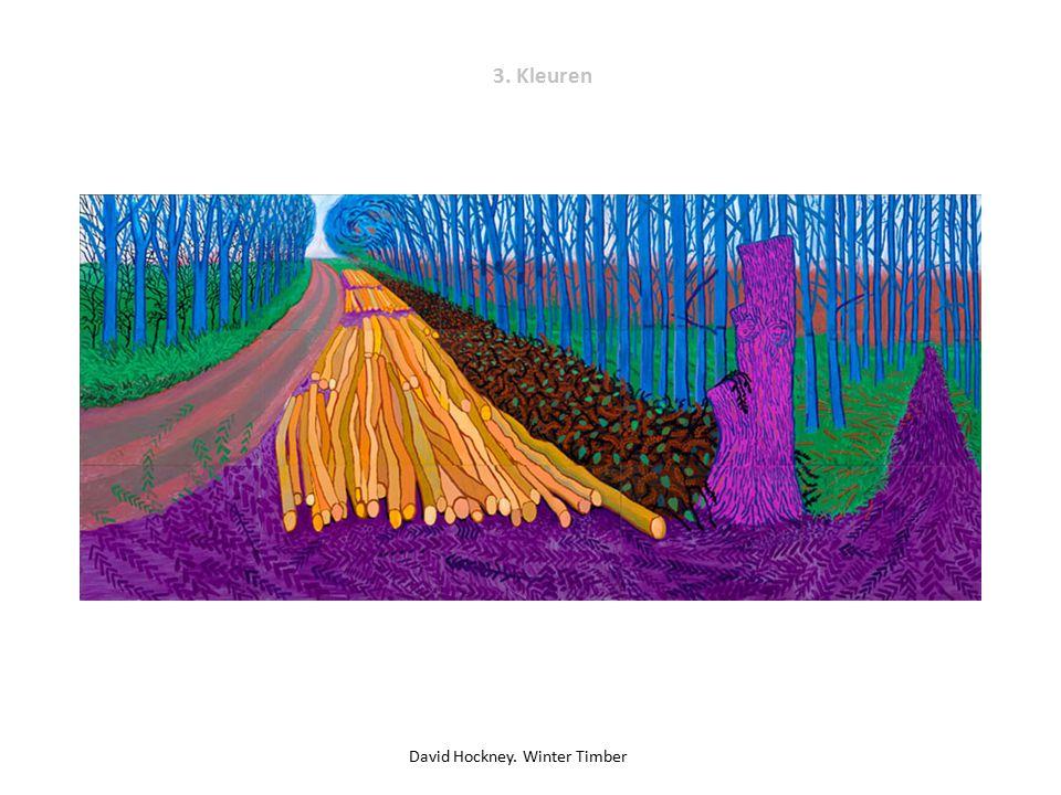 3. Kleuren David Hockney. Winter Timber