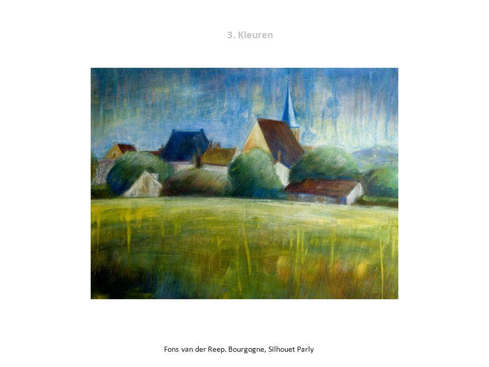 3. Kleuren Fons van der Reep. Bourgogne, Silhouet Parly