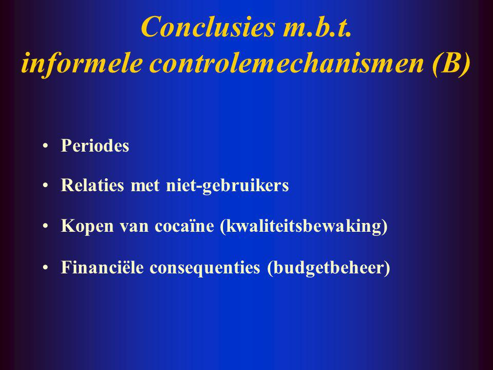 Conclusies m.b.t.