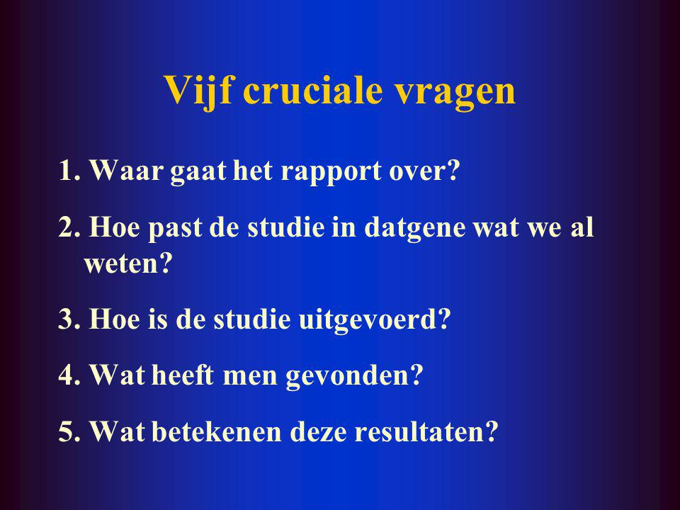 Checklist (3) Replicatie