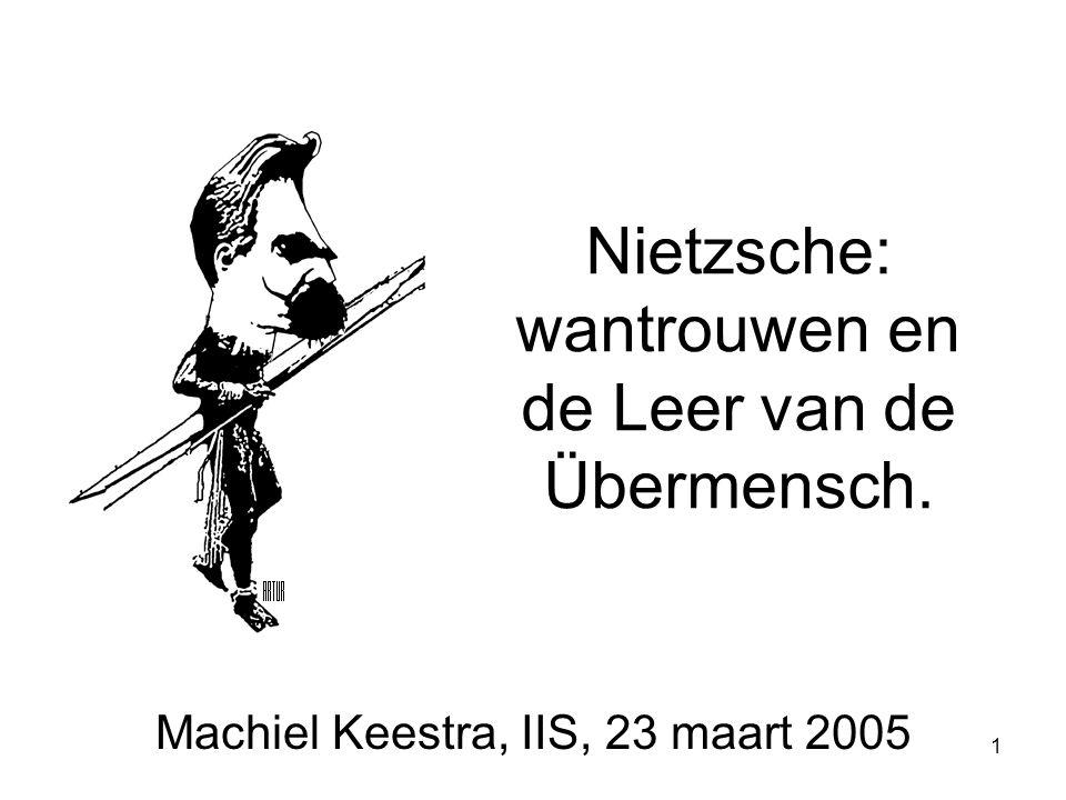1 Nietzsche: wantrouwen en de Leer van de Übermensch. Machiel Keestra, IIS, 23 maart 2005