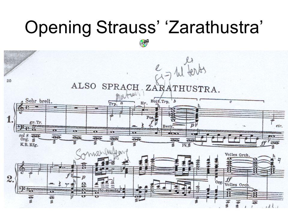 12 Opening Strauss' 'Zarathustra'