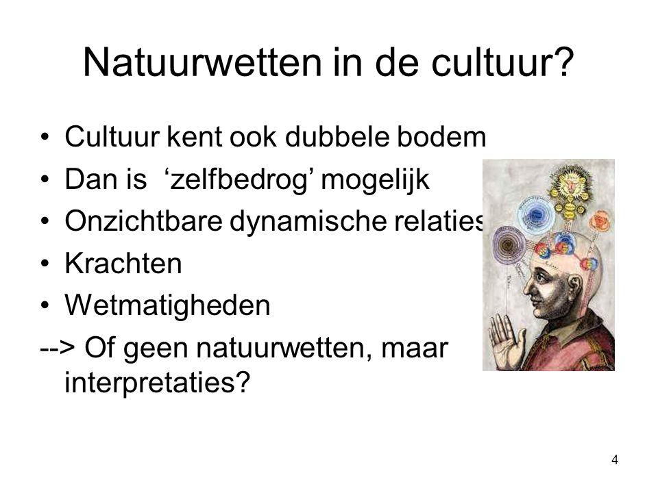 4 Natuurwetten in de cultuur.