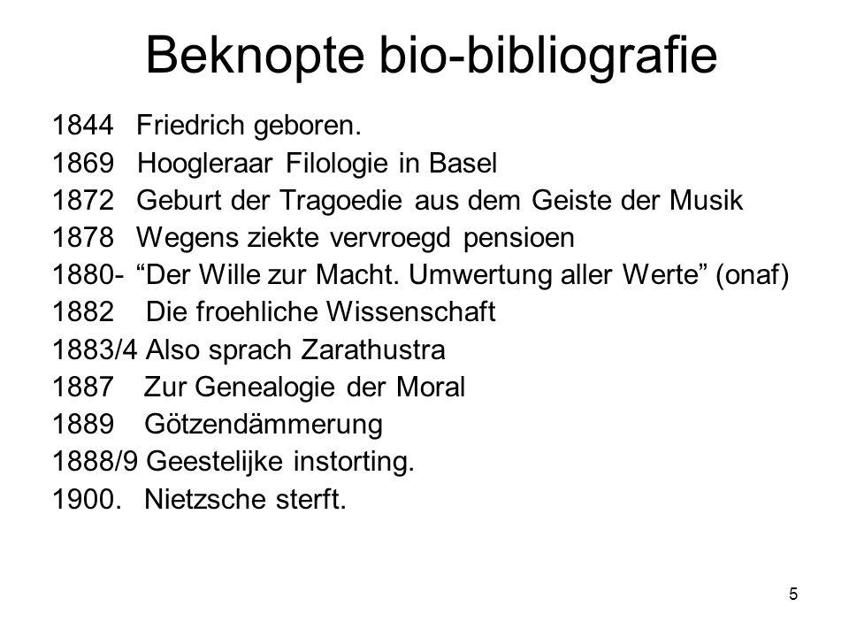 5 Beknopte bio-bibliografie 1844 Friedrich geboren.
